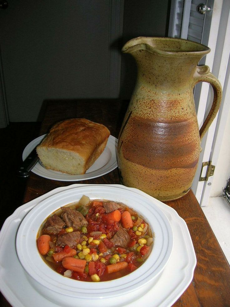 HOMEMADE VEGETABLE BEEF SOUP Looks great on a cool day!!! Eat less and ...