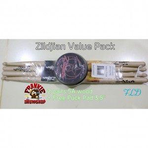 Stick Zildjian 5A Value Pack Puck Pad 3.5inch