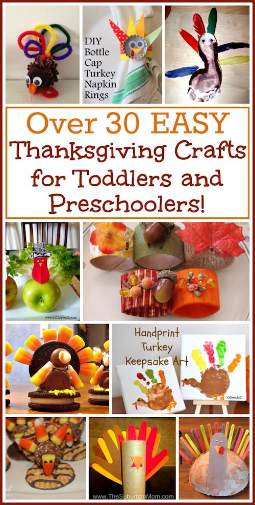 Easy Thanksgiving Crafts for kids. Every little DIY activity and craft has a tutorial showing exactly how to make it!