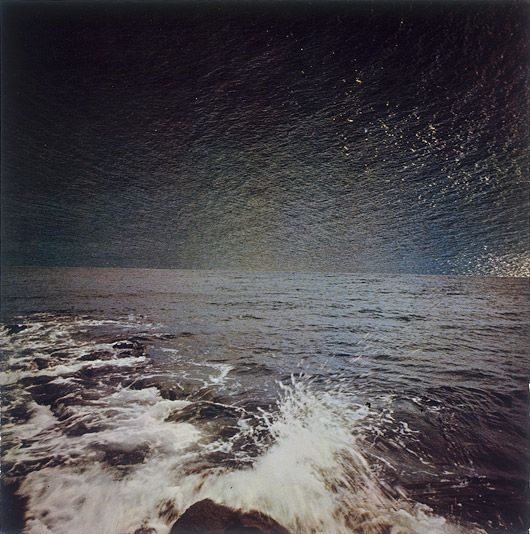 Meer 1973 By Gerhard Richter.          Sky or sea? His play with visual texture is amazing.