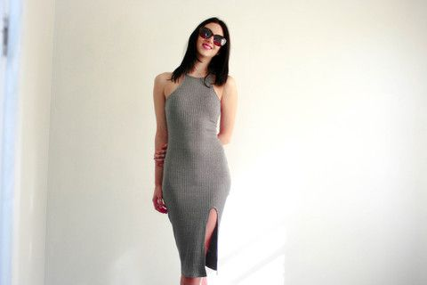 Staple Basic to go! Also available in Amaranth Red! High Neckline.