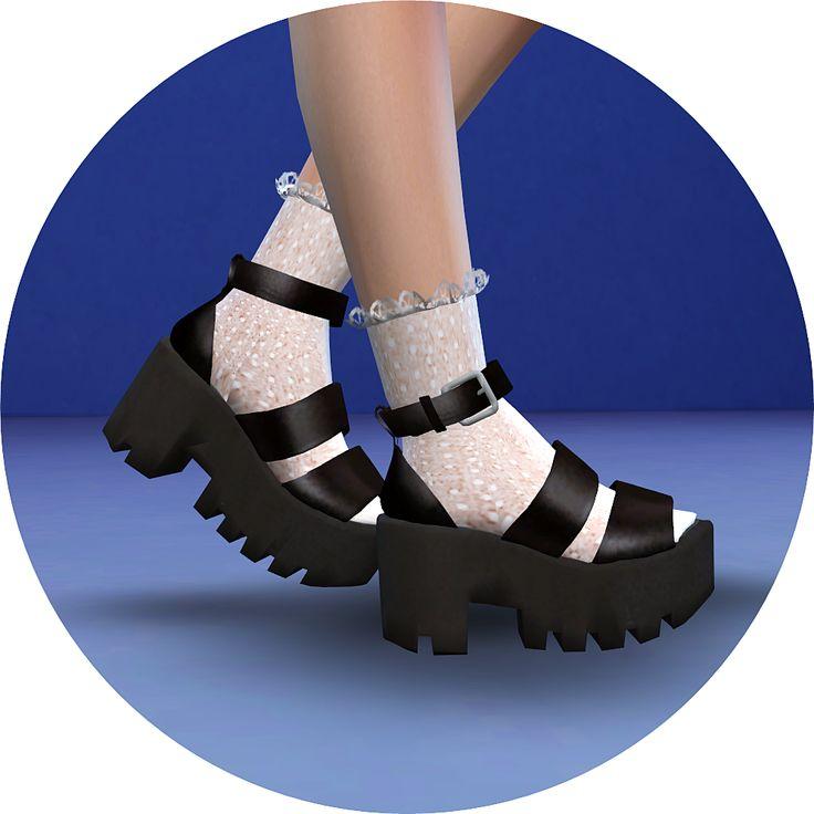 Marigold Sims 4 Chunky Sandals Platform shoes