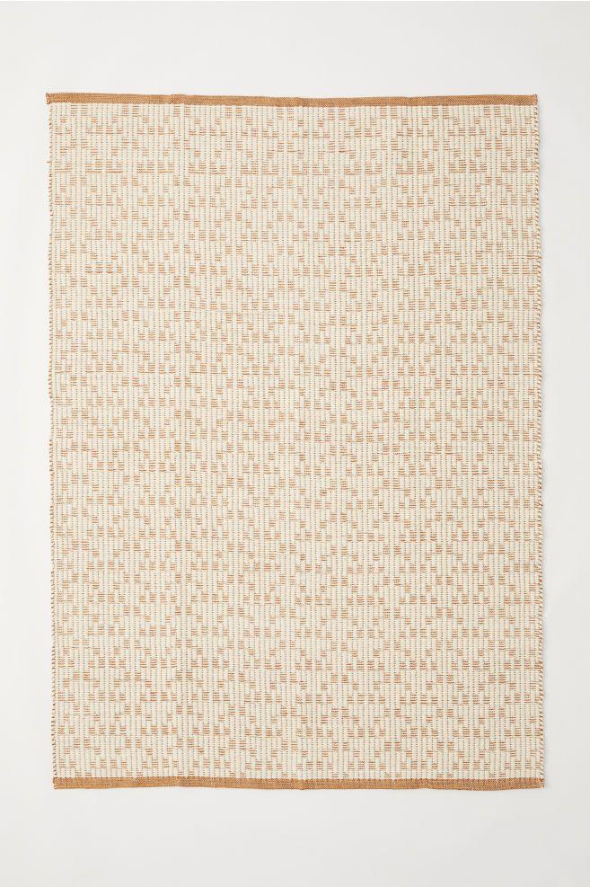 Tapis en laine mélangée - Marron clair/écru - Home All | H&M FR 1 ...