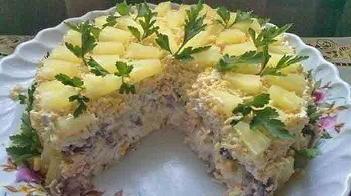 Торт салат чудо слойка | Готовим рецепты