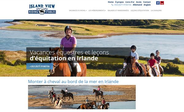 French website for riding school in Co Sligo http://www.irlande-a-cheval.fr built by www.format.ie