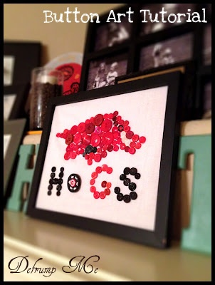 Defrump Me: DIY Razorback Decor {Tutorials for 2 Projects}.  Love the project.  Will obviously do WSU.  We'll see about crimson buttons.  Off to raid my button jars.