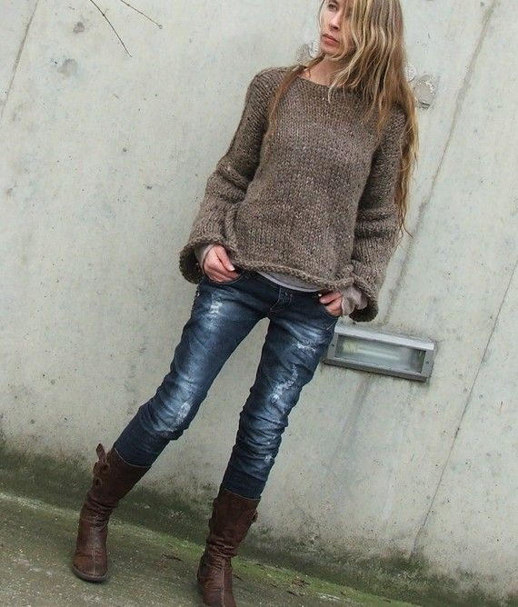 Brown+sweater+/+Brown+comfy+sweater+by+ileaiye+on+Etsy,+$205.00