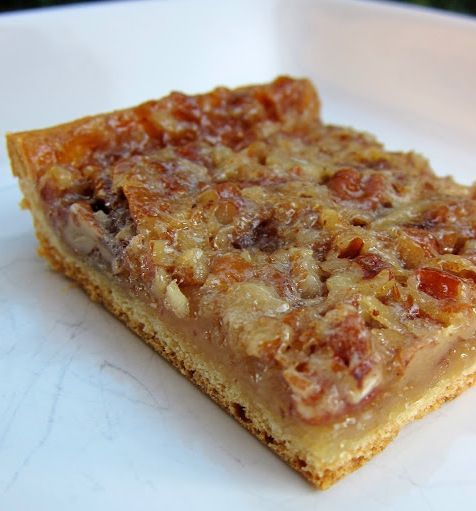 Pecan Bars - This is my new go-to recipe for pecan bars.  These pecan bars are are unique in that the crust is made from a can of refrigerated crescent rolls.