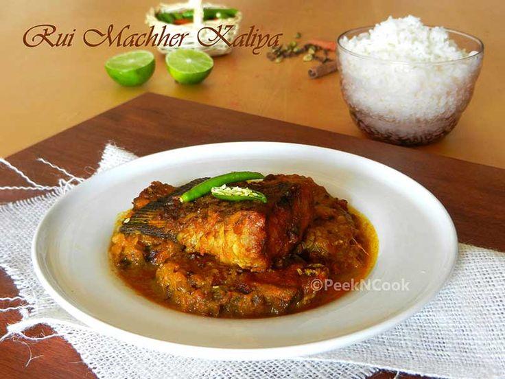 Rohu /Rui Macher Kalia Or Spicy Rohu Curry