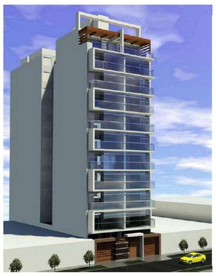 M s de 25 ideas incre bles sobre fachadas de edificios for Fachadas de departamentos modernos