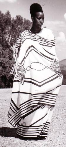 Africa | Last queen of Rwanda, Rosalie Gicanda, married King Mutara Rudahigwa (Mutara II) in 1942. Mutara was a Tutsi tribesman | Photographer and date of this photo unknown.