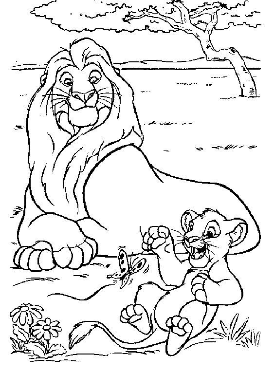 Free The Lion King Coloring Page Pages 98 Printable