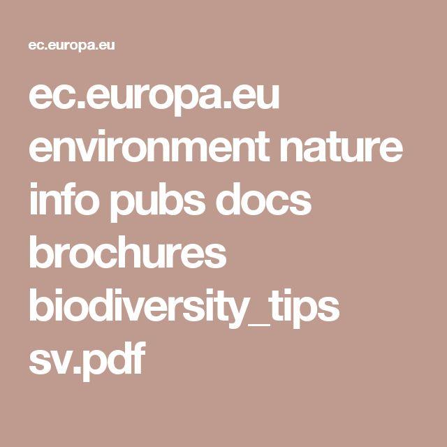 ec.europa.eu environment nature info pubs docs brochures biodiversity_tips sv.pdf