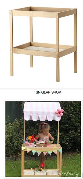 Ikea hack | change table - shop - would make a great lemonade stand!