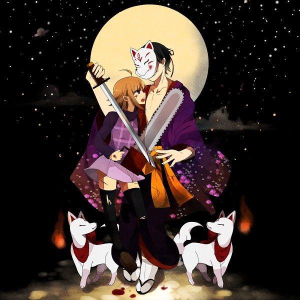 Yume 2kki 1000x1000 890 Kb Anime Anime Images Kitsune Mask