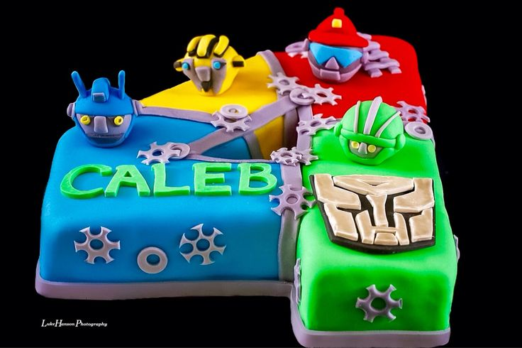 Rescue Bots cake I made for a sweet little boy's birthday. #RescueBots