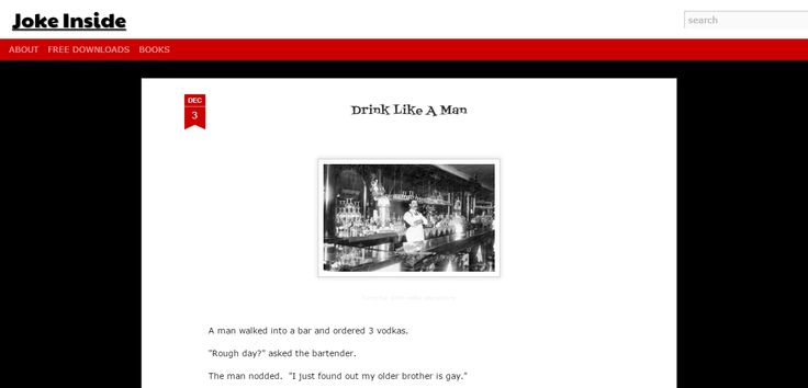 Drink like a man - Funny short joke about a man at bar who orders 3 vodkas.