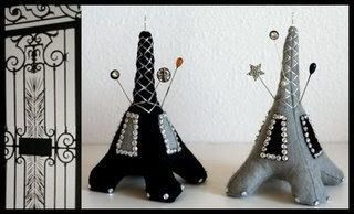 eiffel tower pincushions - Google Search