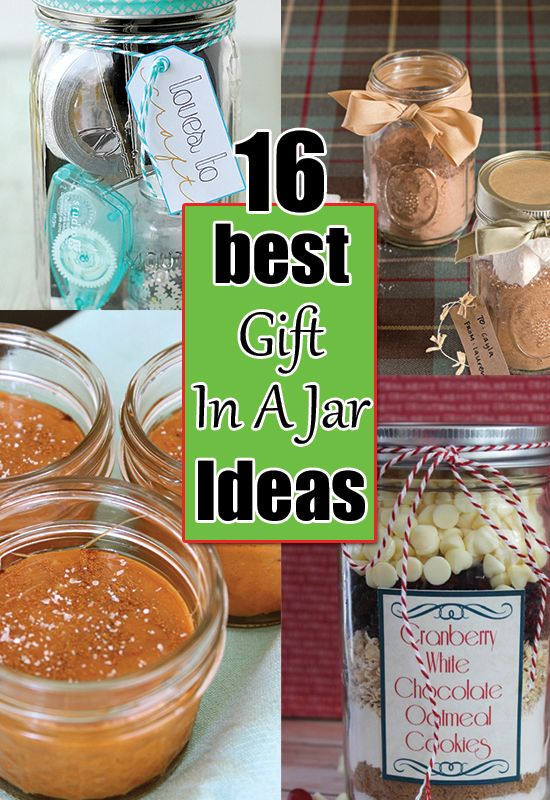 """16 BEST new """"gift in a jar"""" ideas for holiday gifting!"""