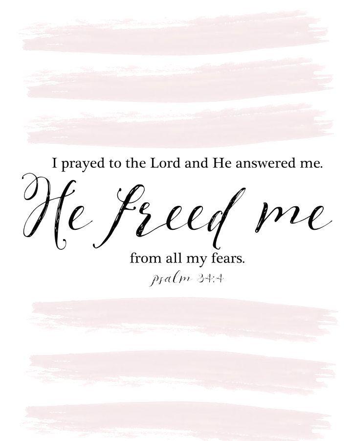 Psalm 34 : 4