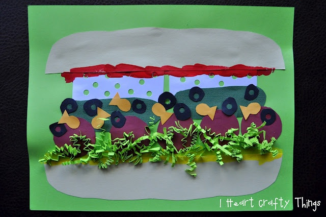 """I HEART CRAFTY THINGS: Silly Sandwich Craft to go with """"Van's Sandwich"""" by Dina Anastasio. SO FUN!"""