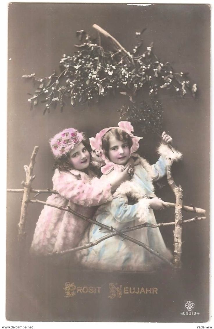 """Alt Ansichtskarte  """"PROSIT NEUJAHR!"""" Österreich-Ungarn 1911."""