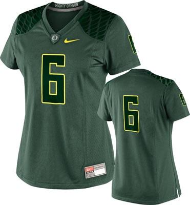 Oregon Ducks Women's Football Jersey: Nike Green Color