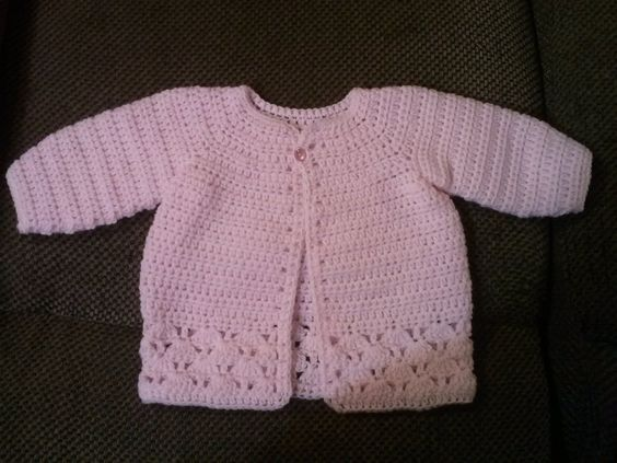 Family, Books and Crochet...Oh My!: Pretty In Pink Sweater - Free Pattern