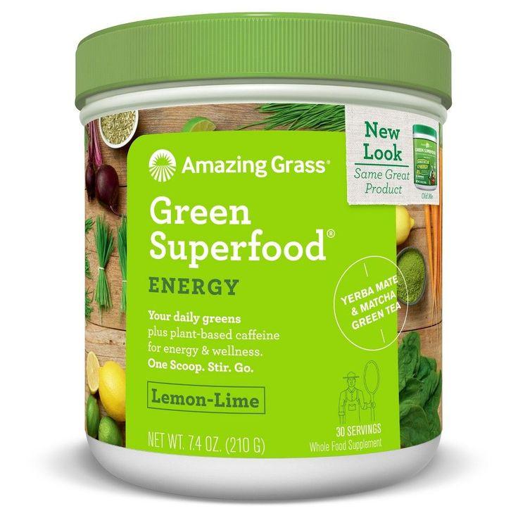 Amazing Grass Green Superfood Energy Lemon Lime 30-Serving Tub