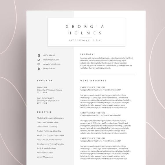 Epingle Sur Cv Design Template