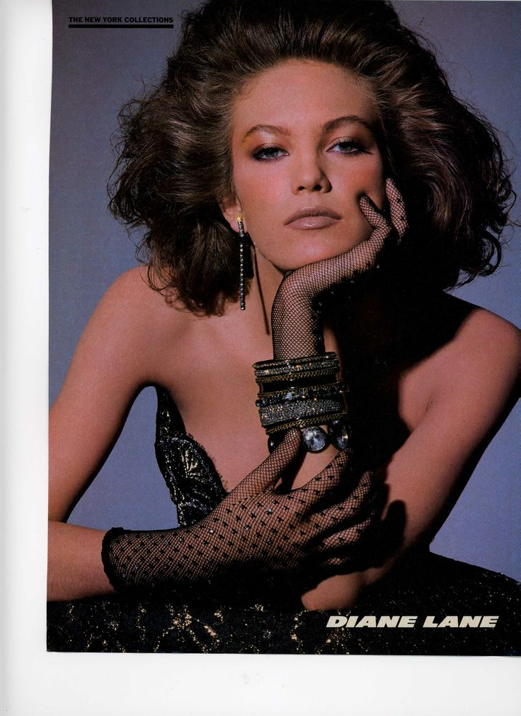 Diane Lane From An Early 80 S Vogue Showing Off The Nude