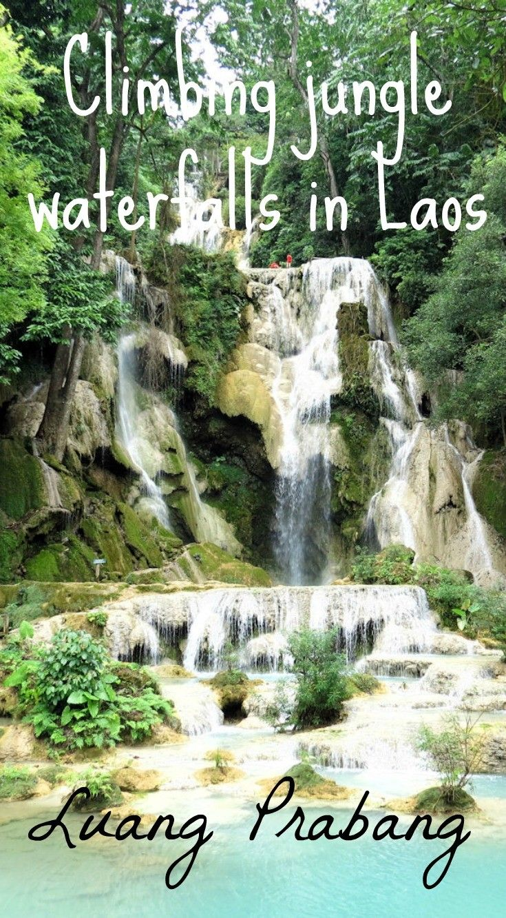 How to explore Kuang Si Waterfalls and the Mekong River on a day boat trip from Luang Prabang in Laos.