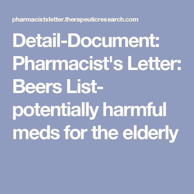 Detail-Document Pharmacistu0027s Letter Beers List- potentially - pharmacist letter template