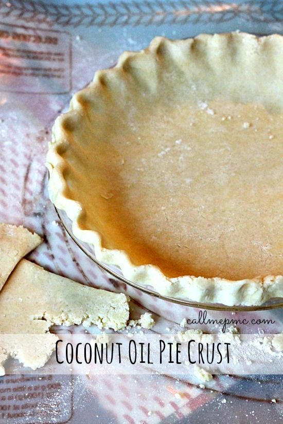 Coconut Oil Pie Crust - I tried using coconut oil with my favorite recipe, but it didn't work.  I'll have to try this.