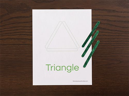 Triangle Shapes Activity for Toddlers and Preschoolers