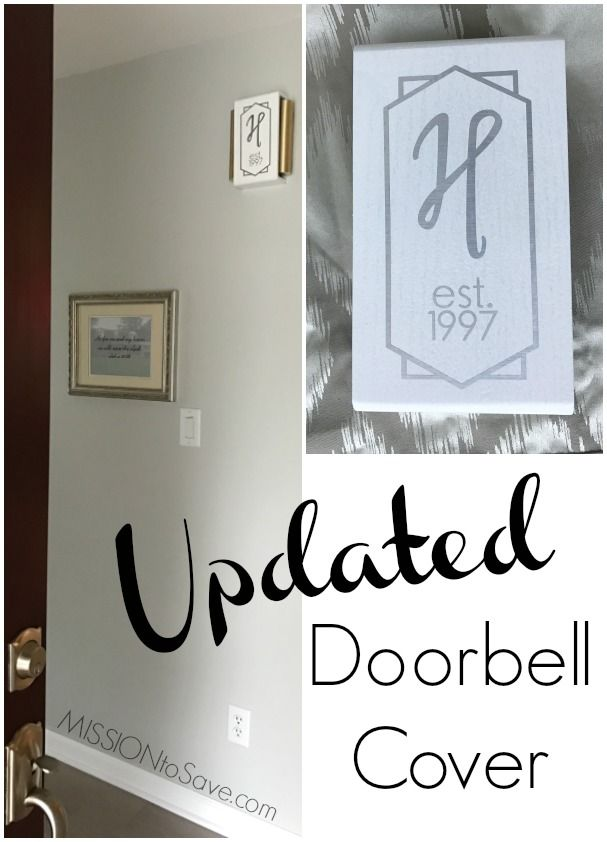 From Outdated To Updated Wooden Doorbell Cover Create An Art Deco Vinyl Monogram With Cricut
