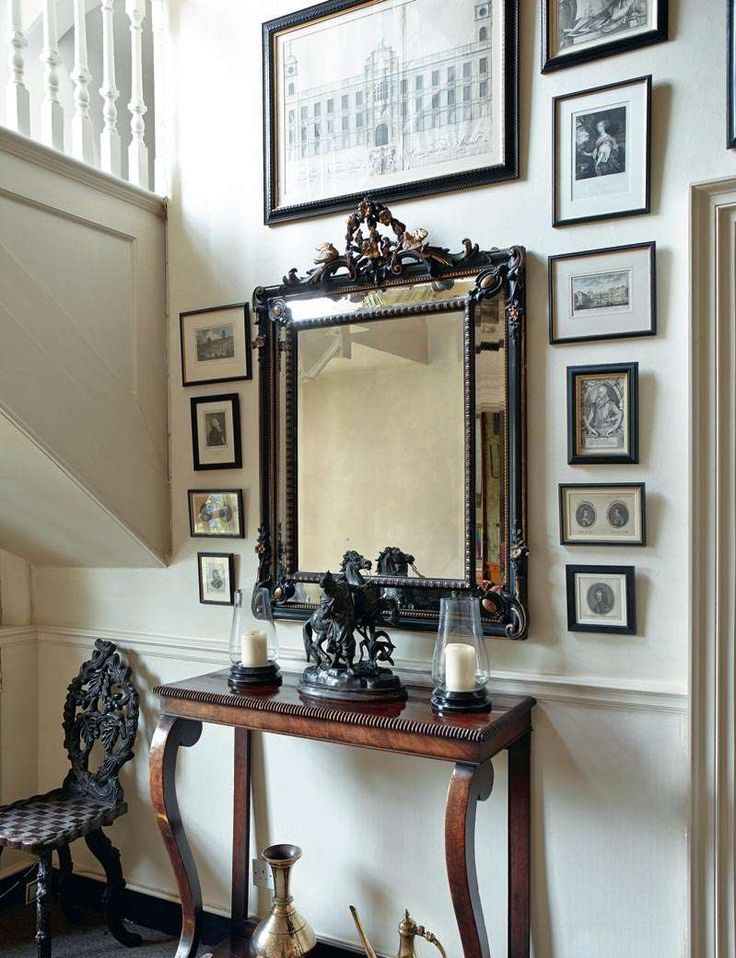 Restoring a Georgian ancestral home  - mirror, console table, old lithographs  | Period Living