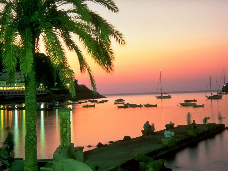 Sunset in Soller, Mallorca. One of my favorite places.