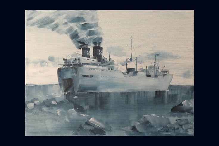 Originale kunstverk med motiver inspirert av norsk historie. Unike malerier av historiske skip.