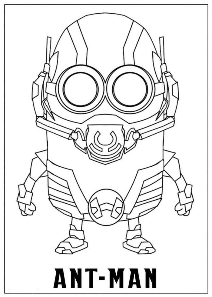 Ant Man Coloring Pages Best Coloring Pages For Kids Minion Coloring Pages Minions Coloring Pages Avengers Coloring