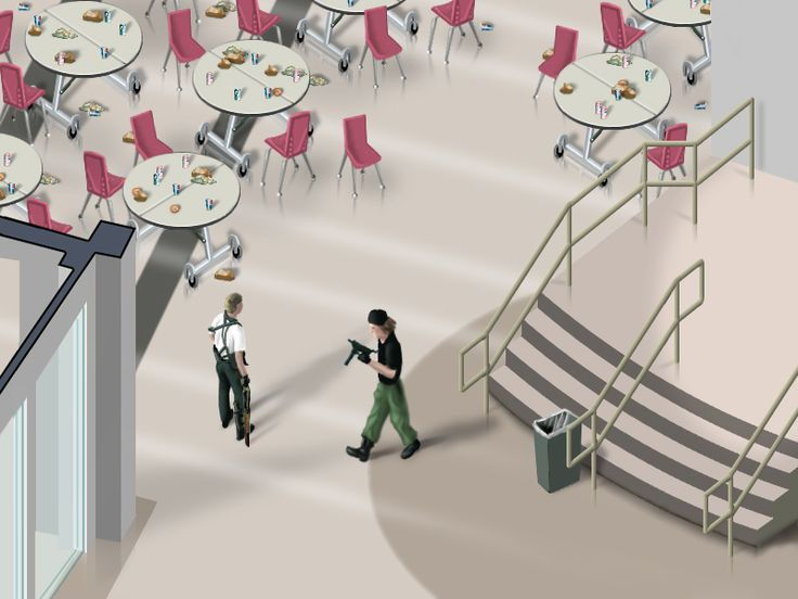 'The Cafeteria' from 'Isometric Screen Shots' by Jon Haddock