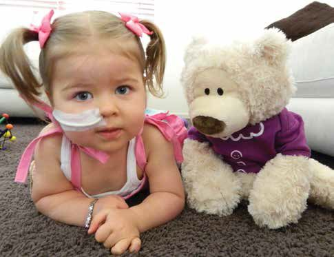 Piper and her Epilepsy Ted-e-bear
