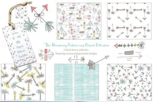 Hand Drawn Patterns Graphics Vectors by Studio Julie Ann on @creativemarket