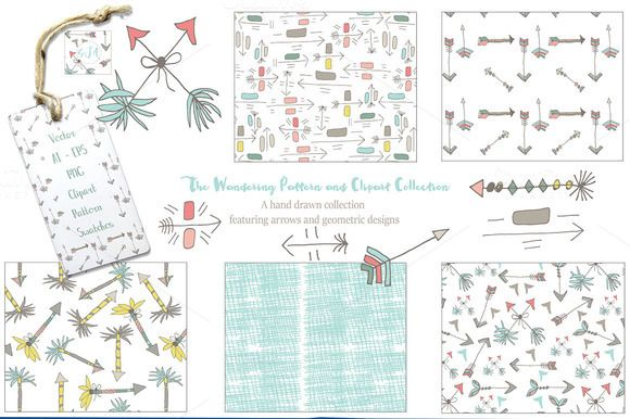 Hand Drawn Patterns Graphics Vectors by Studio Julie Ann on @creativemarket