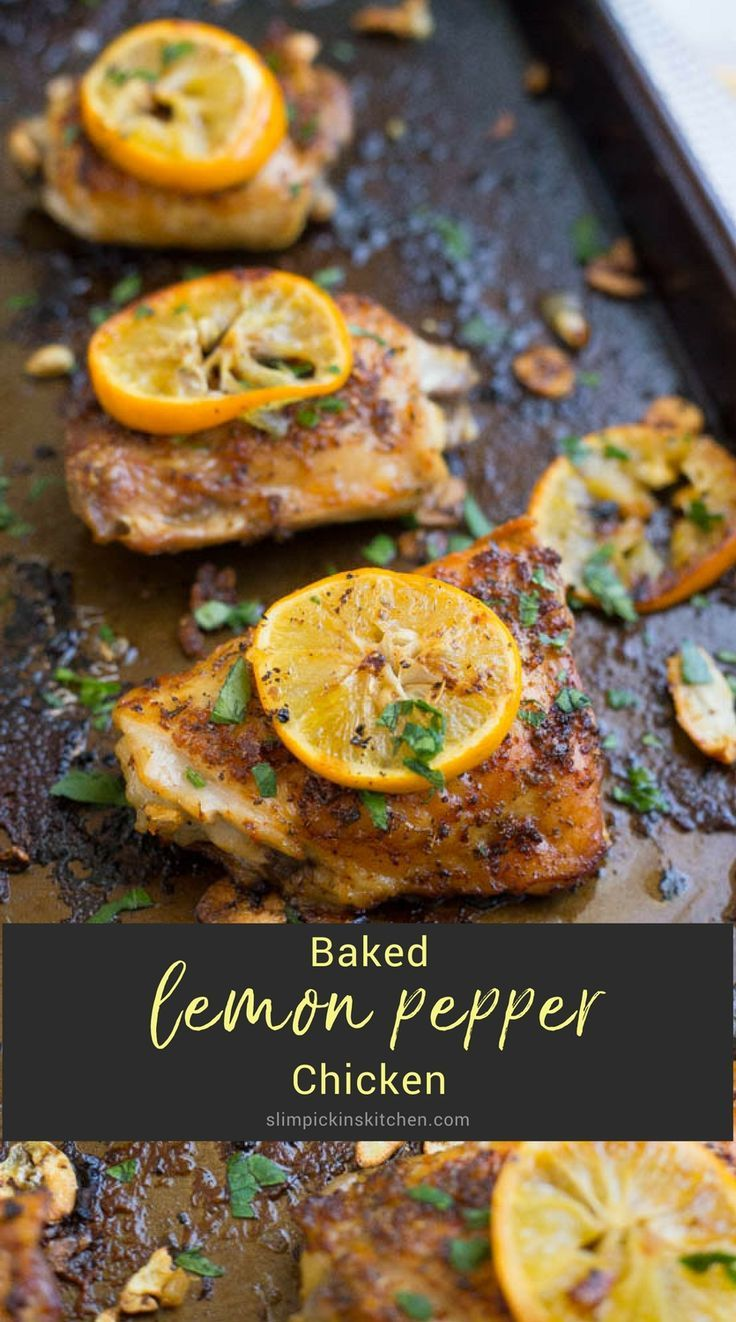 This fantastic baked lemon pepper chicken is crispy, citrusy, garlicky, peppery and is a super easy dinner recipe! There's no doubt it's a tried and true winner, winner chicken dinner.