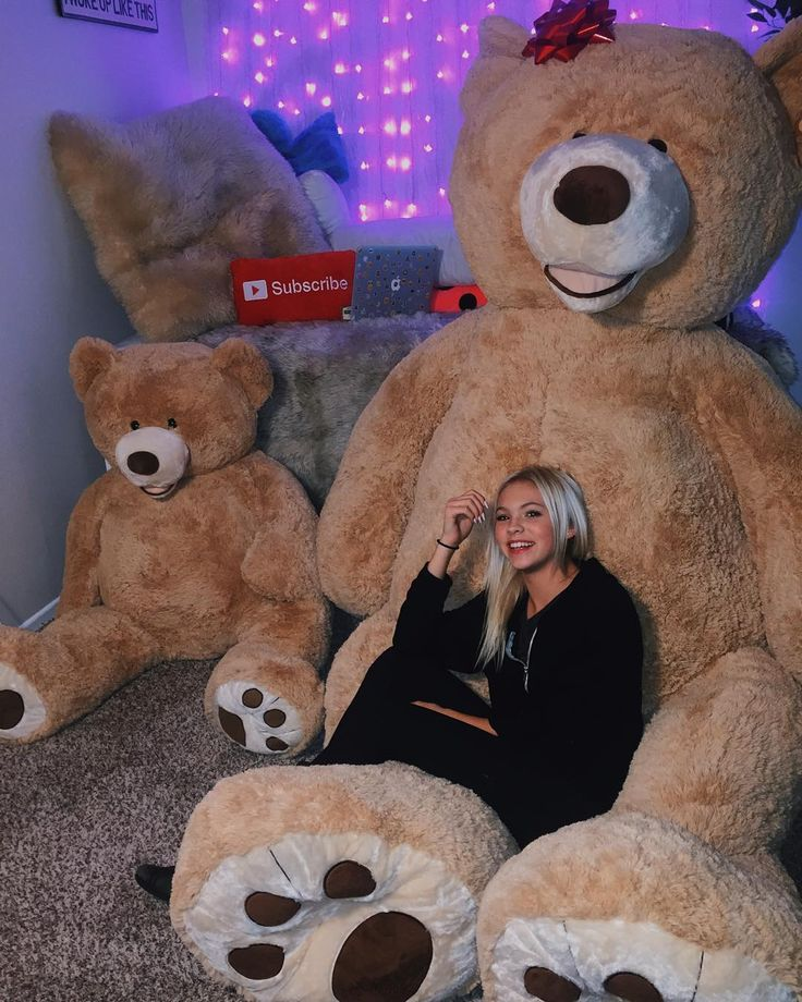 If I had access to those awesome bears, I'd have the big one hug me from behind, and have the smaller one close to my chest.