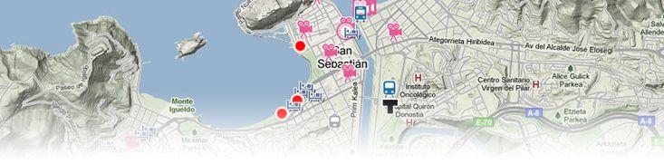 Mapa de San Sebastián.