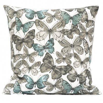 kuddfodral fjärilar petrol blå