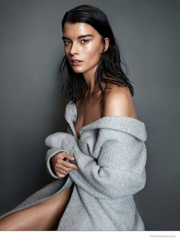 Telegraph Magazine August 2014   Crystal Renn wears minimal looks in shoot for Alex Cayley. #FashionEditorials #CrystalRenn