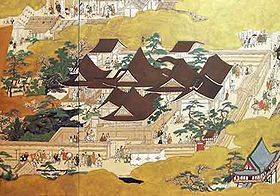 """Hana no Gosho           This period is also known as the Muromachi period. It gets its name from the Muromachi district of Kyoto. The third shogun Ashikaga Yoshimitsu established his residence on Muromachi Street. This residence is nicknamed """"Hana no Gosho"""" (花の御所) or """"Flower Palace"""" (constructed in 1379) because of the abundance of flowers in its landscaping."""
